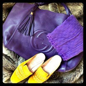 Gucci Soho Tote Large Purple